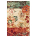 Mohawk Home - Mohawk Home Strata Pandora Multi Area Rug 7'6''x10' - The Mohawk Home Strata Pandora Multi Area Rug is offered by Incredible Rugs and D cor. Made of 100% Nylon, we are confident that you will find these Machine Made Rugs to be an incredible addition to your home or office. Floral prints are seemingly stamped over a painter's canvas, featuring washes of teal, sand and ruby, to create the eclectic style of our Pandora design. Fresh and modern, the contemporary design of the Pandora is like a fine piece of original art for your floor. This rug is quality constructed with Mohawk Home's exclusive Weardated nylon, designed specifically to resist staining and crushing in high traffic areas of the home. Printed on the same machines that manufacture one of the world's leading brands of printed carpet, this rug is extremely durable and vibrant. This technology allows the use of multiple colors to create a rug that is wonderfully designed and applicable to any room in your home. Backing: Action BackingPlease note: the colors shown in the product photograph may vary slightly from actual product. If color matching is critical, we suggest ordering a small rug size to sample in your home. Rug measurements are approximate and can vary by up to 4 inches.