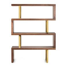 Jonathan Bookcase, Walnut Wood