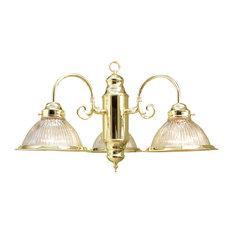 "Woodbridge Lighting 10000-PBR Builder's Choice 3 Light 22"" Wide Single Tier Cha"