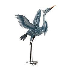 Regal Metallic Blue Heron, Wings Up