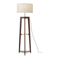 Henderson 1-Light Floor Lamp, Walnut Ash Wood