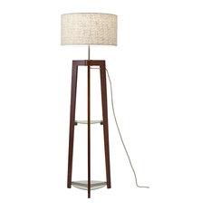 Henderson 1-Light Floor Lamp, Walnut Ash Wood