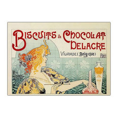 """Biscuits & Chocolate Delacre"" by Privat Livemont - Giclee Repoduction Canvas Wa"