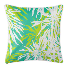 Palm Springs Pillow - Lime, Aqua
