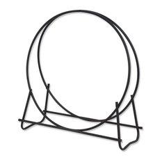 "Black Finish 48"" Diameter Tubular Log Hoop"