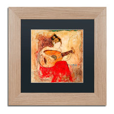 "Joarez 'Vanessa' Framed Art, Birch Frame, 11""x11"", Black Matte"
