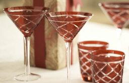 Red Cut Glassware