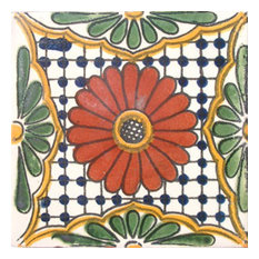 "4""x4"" Mexican Ceramic Handmade Tile #C023"