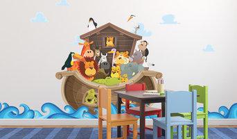 Noah's Ark Wall Stickers (Artist: Benoit Chartron)