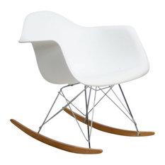 Modern White Rocking Chair Classic Rocker