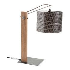 Recycled Sailcloth Desk Lamp, Dark Sail