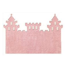 Castle Children's Rug, Pink, 120x160 cm