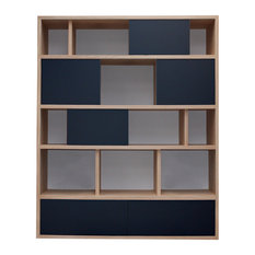Benodet Bookcase, Slate Grey