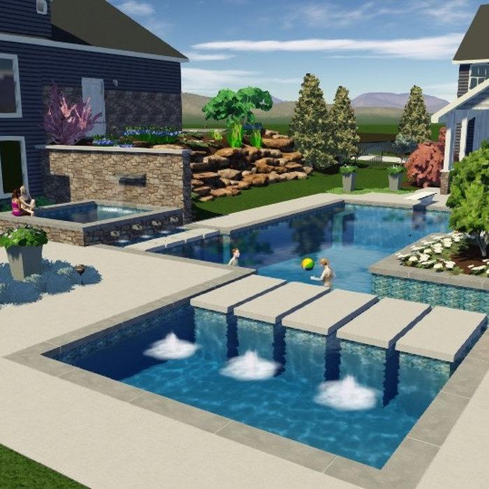 3-D Landscape and Pool Designs