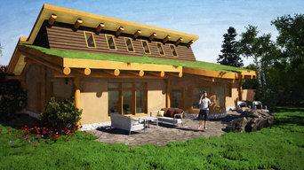 Cob and cordwood masonry home
