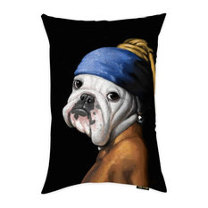 """Oliver Gal """"Dog With the Pearl Earring"""" 14""""x20"""" Pillow"""