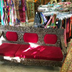 Vintage Sofa Red Indian Bench 18c   Sofas