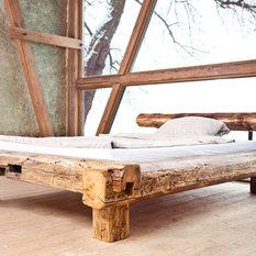 Massivholzbetten rustikal  Rustikale Betten: Boxspringbetten, Kinderbetten | HOUZZ