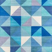 Delhi Hand-Tufted Rug, Blue, 8'x10'