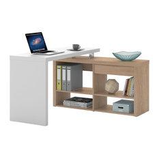 alina stars bureau dangle avec 1 tiroir et 4 tagres meuble bureau