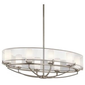 8-Light Oval Chandelier
