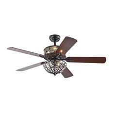 5-Blade Ceiling Fan, Matte Black