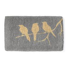 "Fab Habitat Handwoven Extra Thick Durable Birds On Branch Doormat 24""x36""x2"""