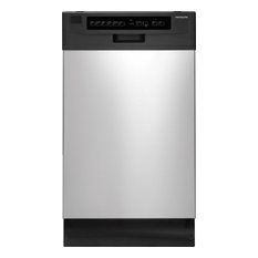 "Frigidaire 18"" Full Console Built-In Dishwasher in Stainless Steel"