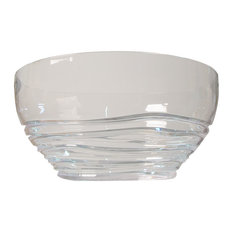 Swirl Large Bowl, Clear