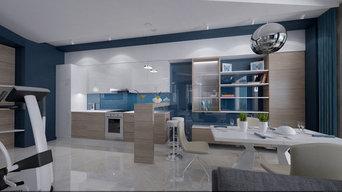 Дизайн проект квартиры в городе Сочи, минимализм морской