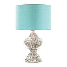 Kokopo Outdoor Table Lamp Dimond Lighting By Elk D3095S Antique White Sea Green