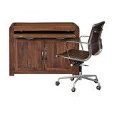 Shiro Walnut Hidden Home Office Computer Desk