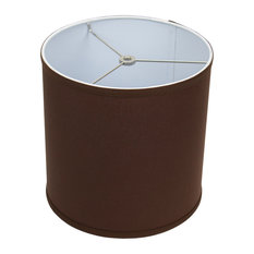 """FenchelShades Drum Lampshade, Linen Coffee 10""""x10""""x10"""""""