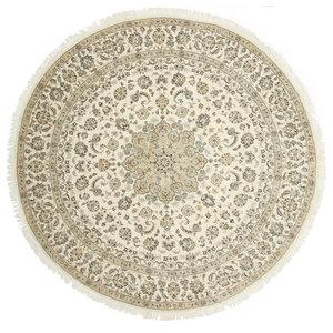 Nain 9La Persian Rug, Round Hand-Knotted, 255x255 cm