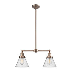 """Innovations 2-LT Large Cone 22"""" Chandelier - Antique Copper"""