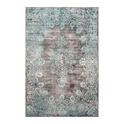 Machine Made Traditional Vintage Faded Lace Rug, 8'x10'