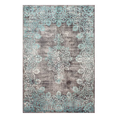 Machine Made Traditional Vintage Faded Lace Rug, 5'x8'