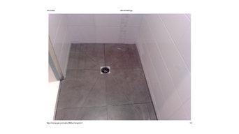 Création d une douche italienne en carreaux cérame pointe de diamant