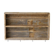 Rustic Double Wall Shelf, Natural