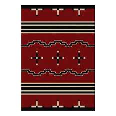 Big Chief Rug, Red, 8'x11', Rectangle