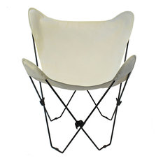 Butterfly Chair and Cover Combo With Black Frame, Natural