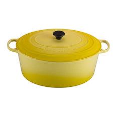 Le Creuset Signature Soleil Yellow Enameled Cast Iron 15.5 Quart Goose Pot