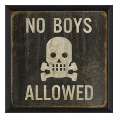 No Boys Allowed 17x17 Print
