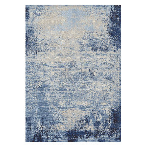 """Rizzy Encore En7271 Organic/Abstract Rug, Blue, Ivory, 5'2""""x7'3"""""""