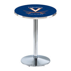 L214 - 42-inch Chrome Virginia Pub Table by Holland Bar Stool Co. by Holland Bar Stool Company