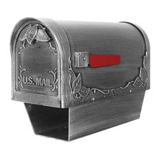 Floral Scf, 2003, Sw Floral Curbside Mailbox With Paper Tube, Swedish Silver