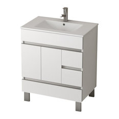 "Eviva Piscis 32"" White Bathroom Vanity with Sink"