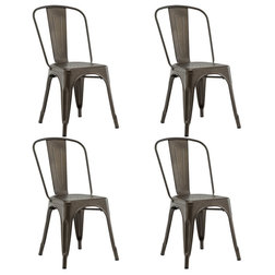 Industrial Dining Chairs by Goplus Corp