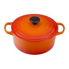 Le Creuset Signature Flame Enameled Cast Iron Round French Oven, 3.5 Quart
