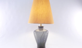 """Murano Glass Table Lamp """"Shades of Grey"""" and gold foil – Made in Italy"""